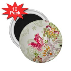 Floral Pattern Background 2.25  Magnets (10 pack)