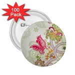Floral Pattern Background 2.25  Buttons (100 pack)  Front
