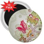 Floral Pattern Background 3  Magnets (10 pack)  Front