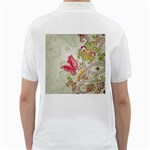Floral Pattern Background Golf Shirts Back