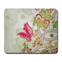 Floral Pattern Background Large Mousepads