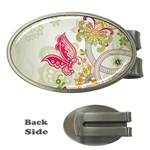Floral Pattern Background Money Clips (Oval)  Front