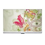 Floral Pattern Background Business Card Holders Front