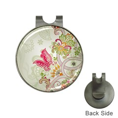 Floral Pattern Background Hat Clips with Golf Markers