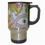 Floral Pattern Background Travel Mugs (White) Right