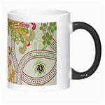 Floral Pattern Background Morph Mugs Right