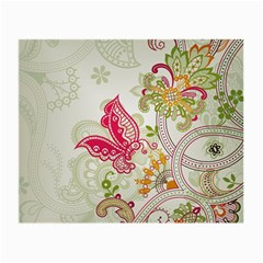 Floral Pattern Background Small Glasses Cloth
