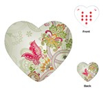 Floral Pattern Background Playing Cards (Heart)  Front