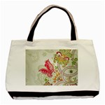 Floral Pattern Background Basic Tote Bag Front