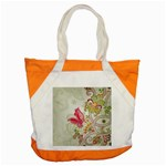 Floral Pattern Background Accent Tote Bag Front