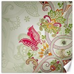 Floral Pattern Background Canvas 12  x 12   12 x12 Canvas - 1