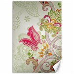 Floral Pattern Background Canvas 12  x 18   18 x12 Canvas - 1