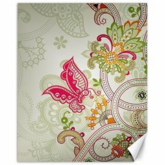 Floral Pattern Background Canvas 16  x 20