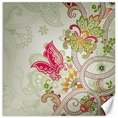 Floral Pattern Background Canvas 20  x 20