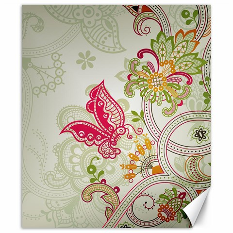 Floral Pattern Background Canvas 20  x 24