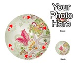Floral Pattern Background Playing Cards 54 (Round)  Front - Heart7