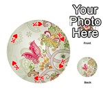 Floral Pattern Background Playing Cards 54 (Round)  Front - HeartK