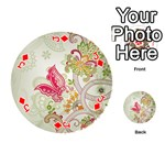 Floral Pattern Background Playing Cards 54 (Round)  Front - DiamondJ