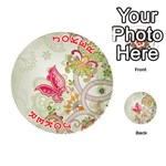 Floral Pattern Background Playing Cards 54 (Round)  Front - Joker2