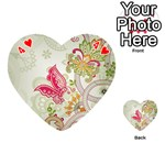 Floral Pattern Background Playing Cards 54 (Heart)  Front - Heart4