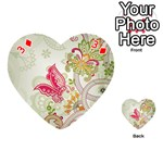 Floral Pattern Background Playing Cards 54 (Heart)  Front - Diamond3