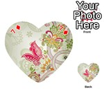 Floral Pattern Background Playing Cards 54 (Heart)  Front - Diamond7