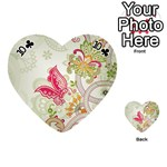 Floral Pattern Background Playing Cards 54 (Heart)  Front - Club10