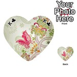 Floral Pattern Background Playing Cards 54 (Heart)  Front - ClubK