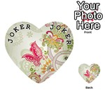 Floral Pattern Background Playing Cards 54 (Heart)  Front - Joker1
