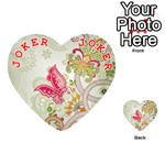 Floral Pattern Background Playing Cards 54 (Heart)  Front - Joker2