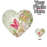 Floral Pattern Background Playing Cards 54 (Heart)  Back