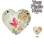 Floral Pattern Background Playing Cards 54 (Heart)  Front - SpadeJ