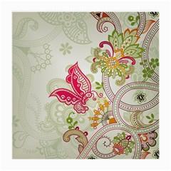 Floral Pattern Background Medium Glasses Cloth (2-Side)
