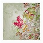 Floral Pattern Background Medium Glasses Cloth (2-Side) Back