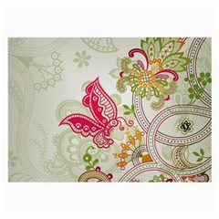 Floral Pattern Background Large Glasses Cloth