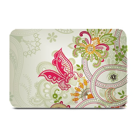 Floral Pattern Background Plate Mats