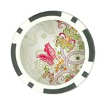 Floral Pattern Background Poker Chip Card Guards Front