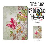 Floral Pattern Background Multi-purpose Cards (Rectangle)  Back 10
