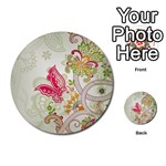 Floral Pattern Background Multi-purpose Cards (Round)  Back 2