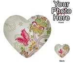 Floral Pattern Background Multi-purpose Cards (Heart)  Back 1