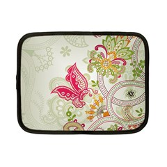 Floral Pattern Background Netbook Case (Small)