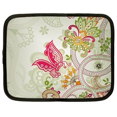 Floral Pattern Background Netbook Case (Large)