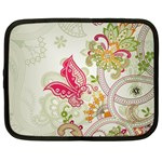 Floral Pattern Background Netbook Case (Large) Front