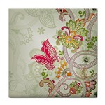 Floral Pattern Background Face Towel Front