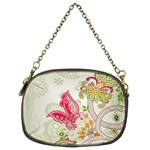 Floral Pattern Background Chain Purses (Two Sides)  Back