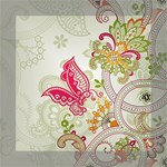 Floral Pattern Background Mini Canvas 8  x 8  8  x 8  x 0.875  Stretched Canvas