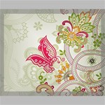 Floral Pattern Background Canvas 20  x 16  20  x 16  x 0.875  Stretched Canvas