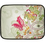 Floral Pattern Background Double Sided Fleece Blanket (Mini)  35 x27 Blanket Front