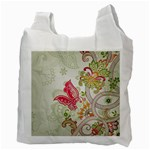 Floral Pattern Background Recycle Bag (Two Side)  Back