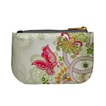 Floral Pattern Background Mini Coin Purses Back
